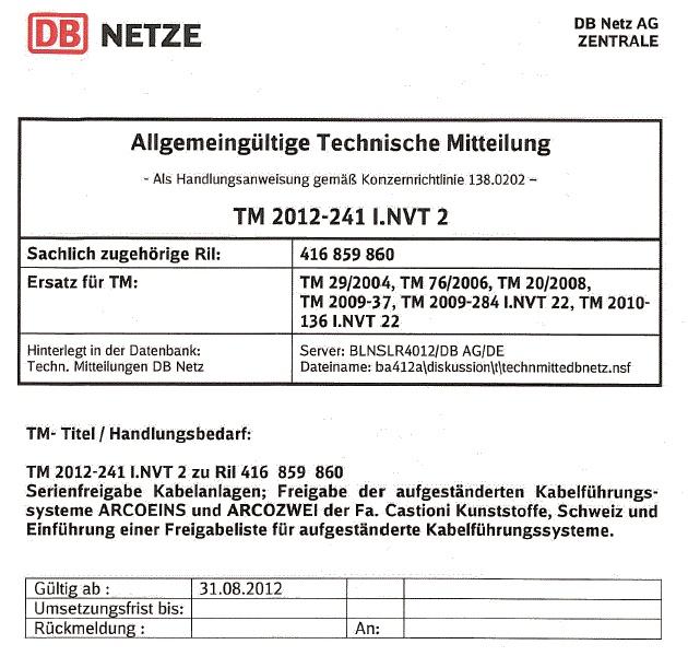 Deutsche Bahn Zulassung